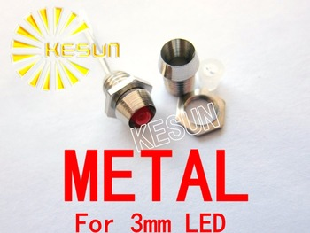 500PCS 3mm Metal 3mm için Tutucu Soket LED Diyot LED x
